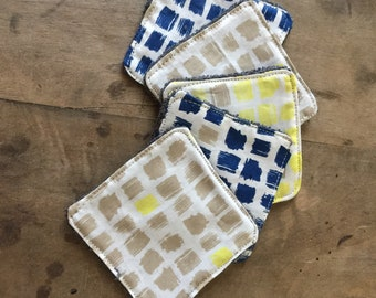 Set of reusable washable cloth