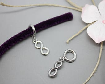 1 Perle passing silver infinity cord 5-6 mm - SC76519 - creating jewelry