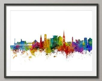 Bournemouth Skyline, Bournemouth Dorset Cityscape Art Print (2947)