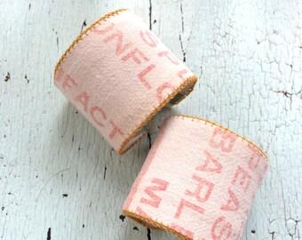 Grain Sack Cuffs - Adjustable 2 inch