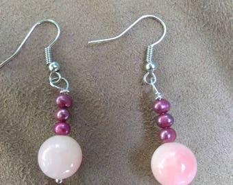 Pink Opalite Earrings