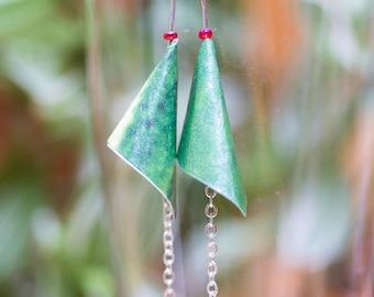 Origami petal earrings