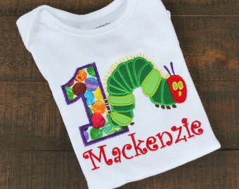 Hungry Caterpillar Birthday Shirt or Bodysuit