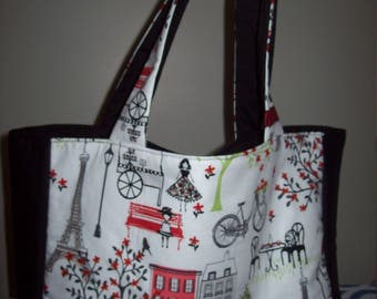 Paris Themed Large Tote