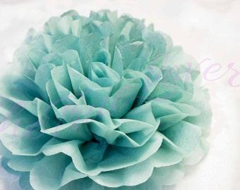 DUSTY BLUE/  1 tissue paper Pompoms,single pompom,nursery room decoration, baby shower,wedding,birthday, party,engagement, bridal shower,DIY