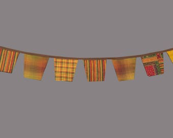 Fabric Flag Bunting, Pennant Banner, Photography Prop, Newborn Prop. FALL Minis Banner, Autumn Banner -  9ft