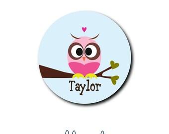 Personalized Monogrammed Custom Mousepad, Owl Mousepad, Owl on a Limb