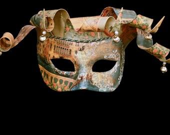 Venetian Mask | Columbina with Venice Drawing