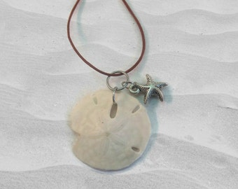 Beach Jewelry - Sand Dollar Necklace - Ocean Jewelry - Seashell Necklace - Seashell Jewelry -Sea Shells -Sand Dollar Jewelry -Beach Necklace