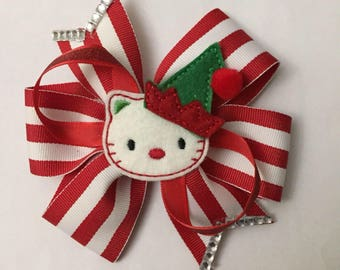 Christmas Hello Kitty Bow
