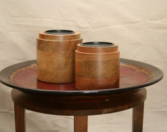 Candle Holders: Wooden