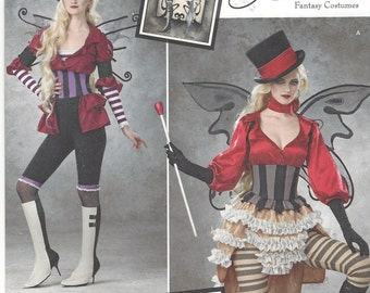 Amy Brown Womens Steampunk Circus Costumes Simplicity Sewing Pattern 1301 Size 14 16 18 20 22 Bust 36 to 44 UnCut Fantasy Costumes