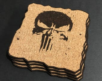 The Punisher Cork Coaster Set
