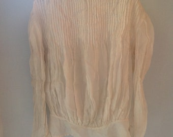 antique pure silk edwardian bodice blouse 1920s