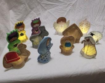Tea Light Nativity set- perfect for children!