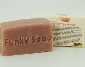 1 piece Amazing Acai Berry Shampoo Bar, 100% Natural Handmade 65g