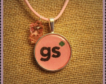 Girly Girl Scout Inspired Necklace. Perfect for leader, mom, Daisy, Brownie, Junior, Cadet, or Senior ranks.
