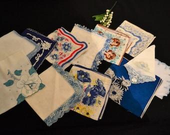 Something Blue Shades of Hankies.......Twelve