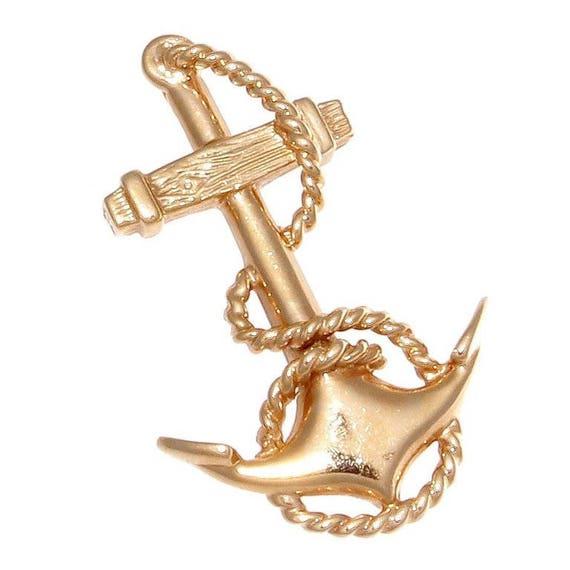 Gold anchor pendant aloadofball Gallery