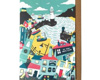 St Ives, Cornwall - Greetings Card