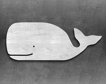 Whale wooden whale sign -nautical whale -nursery decor -beach house -above crib -Ocean Nursery Decoration Whale Decor