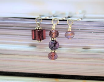 Purple Beaded Paperclips, Purple Paperclips, Purple Planner Clip, Beaded Paperclips, Paperclip Set, Beaded Planner Clip, Planner Clip Set