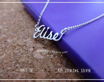 Name Necklace-Custom Name Necklace-Personalized Name Necklace-Custom Name Gift-Your Name Necklace-Bridesmaids Jewelry-Children Names #NF26