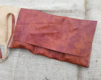 Anniversary gift, Personalized leather Pipe & Cigar pouch, leather pipe roll, Cigar, Rolling pipe Case, Pipe Bag, Pipe Case, Tobacco pouch