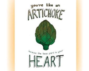You're Like An Artichoke.... Greeting Card