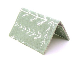 Mini Wallet / Card Holder / Business Card Holder / Card Case / Gift Card Holder/ Small Wallet - Sage Green Arrow