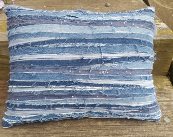 Recycled Denim Jeans Pillow
