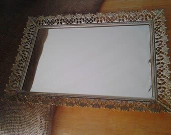 Rectangle Vintage Vanity Mirror Tray