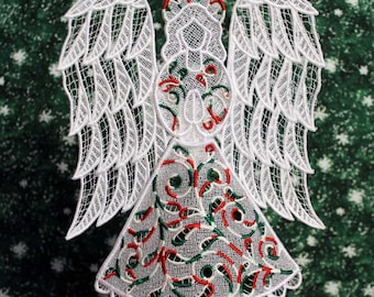 Christmas Lace Victorian Angel Tree Topper