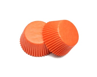 Orange Glassine Baking Cupcake Liners Cups - 36 Standard Size Liners - Baking, Craft and Party Supplies