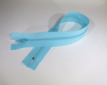 BULK! 10pc zipper 30cm / 12 inch light blue closed end (Z76B)