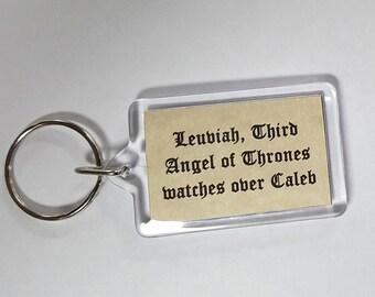 Custom Guardian Angel Keychain