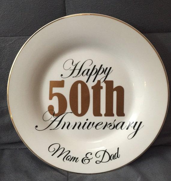 Like this item? & Anniversary 50th Anniversary Anniversary plate 50th 40th