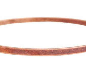 Set of 3 Flat Large Blank Bangle Bracelet in Antique Copper
