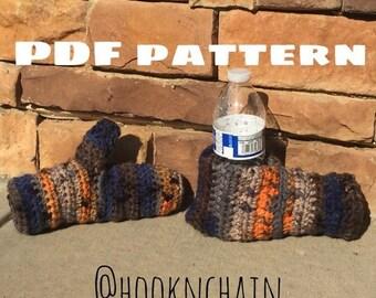 PDF PATTERN Tailgate Drink Mitt with Mitten, glove, winter set