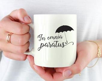 In Omnia Paratus Mug, Gilmore Girls Mug, Life And Death Brigade Mug, Funny Coffee Mug, Luke's Diner Mug, Gilmore Coffee Gift 1155
