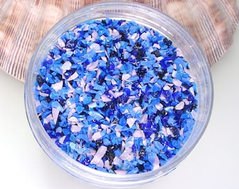 Bluebonnet Glass Frit Blend for Lampwork Bead Making 96 CoE Glass Blue Violet Indigo Lavender Purple Rose Periwinkle - Available in 2 sizes
