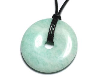 Gemstone - Amazonite Russia ft 40mm Donut pendant necklace