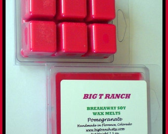 Pomegranate - Soy Breakaway Melts - Free U.S. Shipping - Highly Scented - Tarts