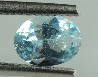 1.35 cts blue Apatite faceted oval lot Madagascar