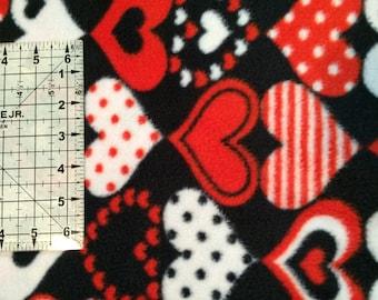 The Hooligan Life Fleece Dog Snugglie Sweater Valentine's Day Red Black White Hearts