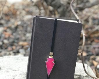Pink agate arrowhead