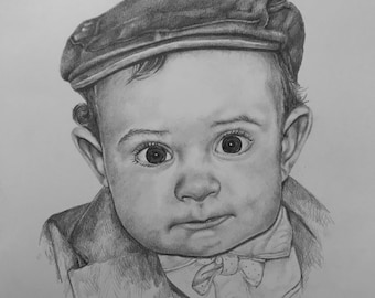 Custom pencil portraits, hand-drawn portraits, personalized. Drawing with pencil from photo