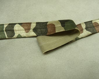 Ribbon elastic military camouflage