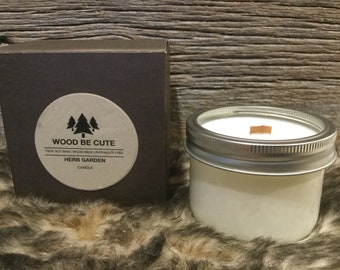 Herb & garden 100% soy wax candle