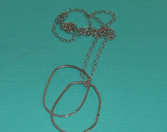 Free Form Necklace, Architectural Design, Necklace in Sterling Silver